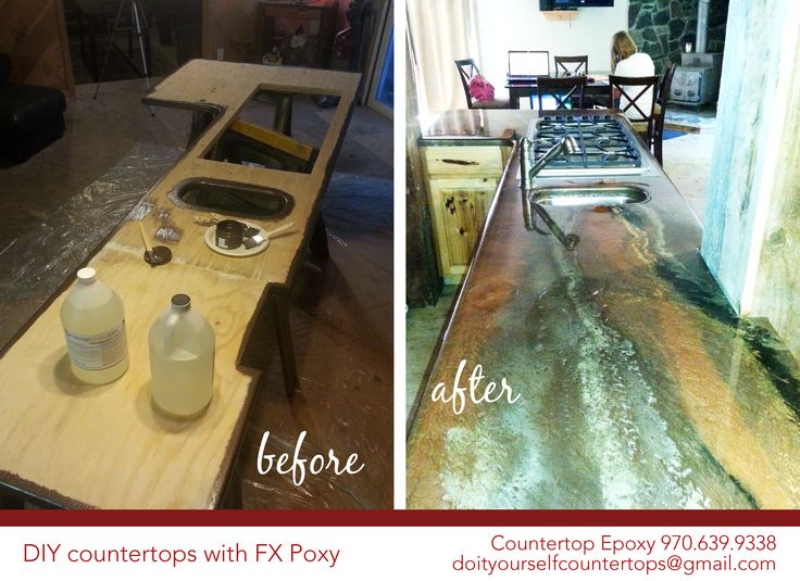 DIY Countertops With FX Poxy. Create A Beautiful Countertop That Your  Friends And Family Will