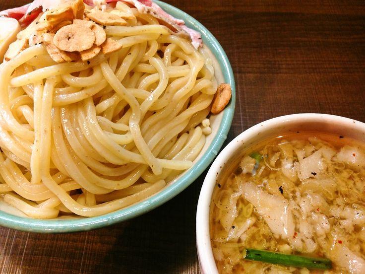 背脂にんにくつけ麺(中盛)@自家製麺じゃじゃ。