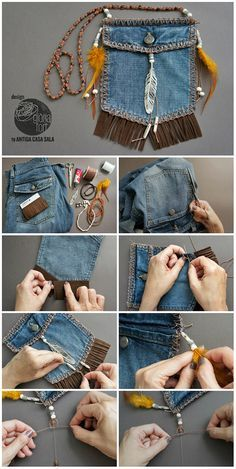 I like the idea of repurposing the pocket from your old jeans ~ae