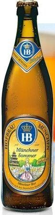 Cerveja Hofbräu Münchner Sommer Naturtrüb, estilo Keller/Zwickel, produzida por Hofbräuhaus München, Alemanha. 5.1% ABV de álcool.