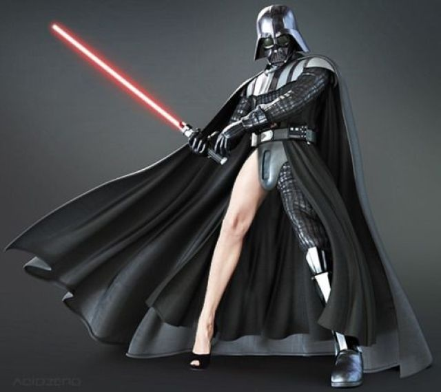 Even Darth Vader rocks Angie's leg!: Darth Vader, Mothers, Stars War, Angelina Jolie, Dark Side, Funny Stuff, Legs, Movie Memes, Can'T Stop Laughing