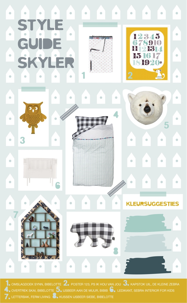 Bright colors with yellow accents / Bibelotte Collection Skyler