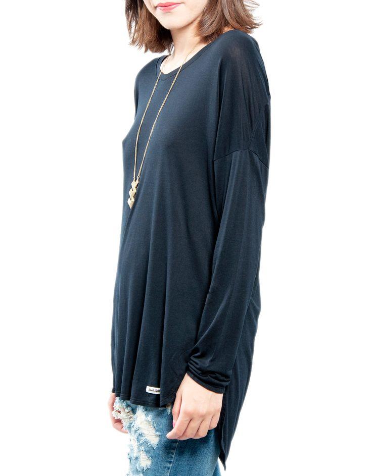 Camiseta básica manga larga hombro Double Agent 12,99€ www.doubleagent.es #fashion #basics #clothes