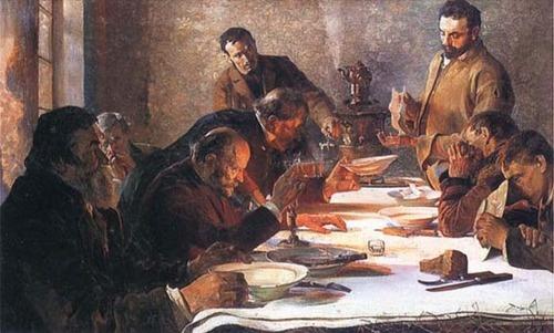 Christmas Eve in Siberia - Jacek Malczewski - 1892