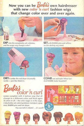 vintage Barbie ad