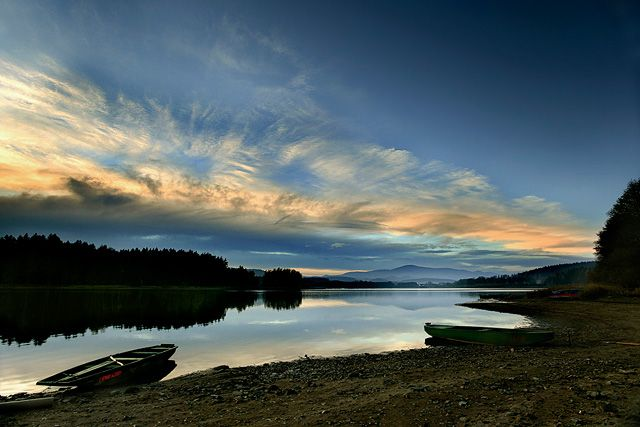 U přehrady Lipno, Šumava