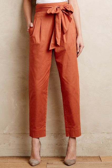 Bowtied Paperbag Crops - anthropologie.com #anthroregistry