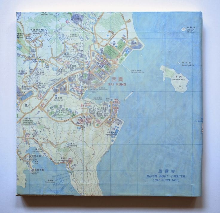 Louisiana Denmark Map%0A Hong Kong Map Series by Artist Allison Plastridge who states    Well  folks