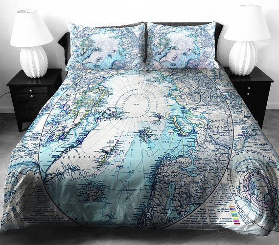 197 best a future home bedding images on pinterest bedspread blue map bedding set blue ancient map duvet cover map bed by lfsee gumiabroncs Images