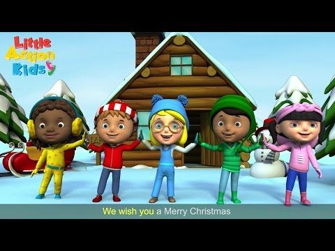 We Wish You A Merry Christmas Carol With Lyrics | Christmas Songs by Little Action Kids - YouTube