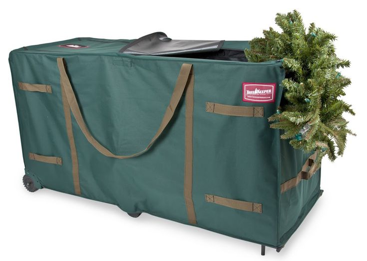 this large greenskeeper tree storage bag protects and stores your artificial trees after the holiday season - Plastic Christmas Tree Storage Box
