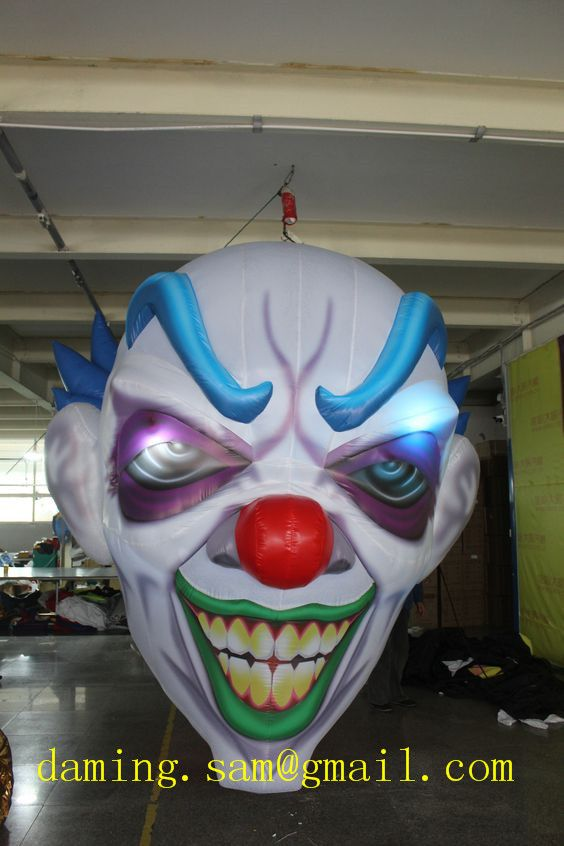 Hanging inflatable clown From Factory Price High Quality LED light