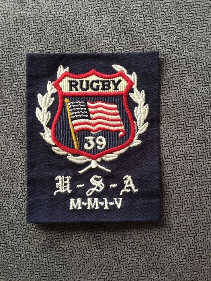 Rugby USA 1939 Shield Ralph Lauren Vintage Patch