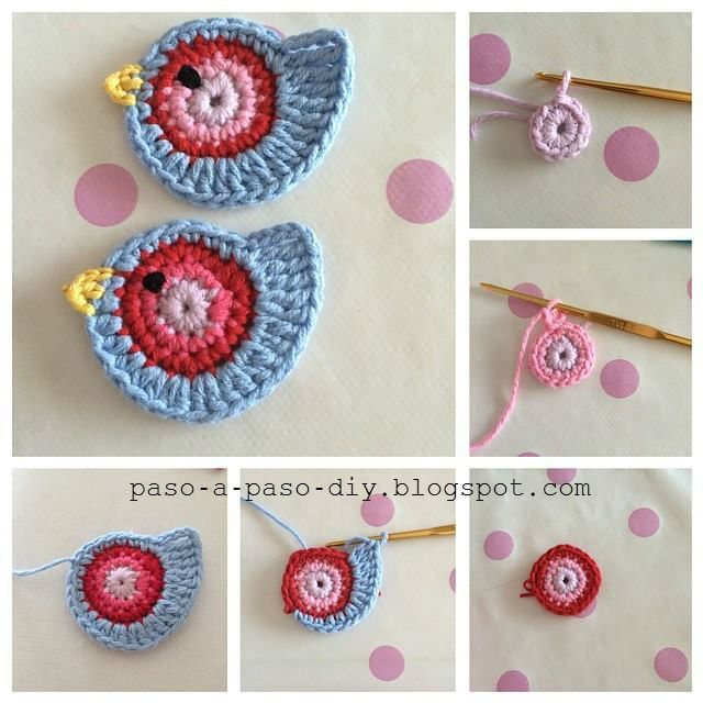Para preparar estos bonitos pájaros crochet vas a usar tu aguja de ganchillo y restos de lana o hil...