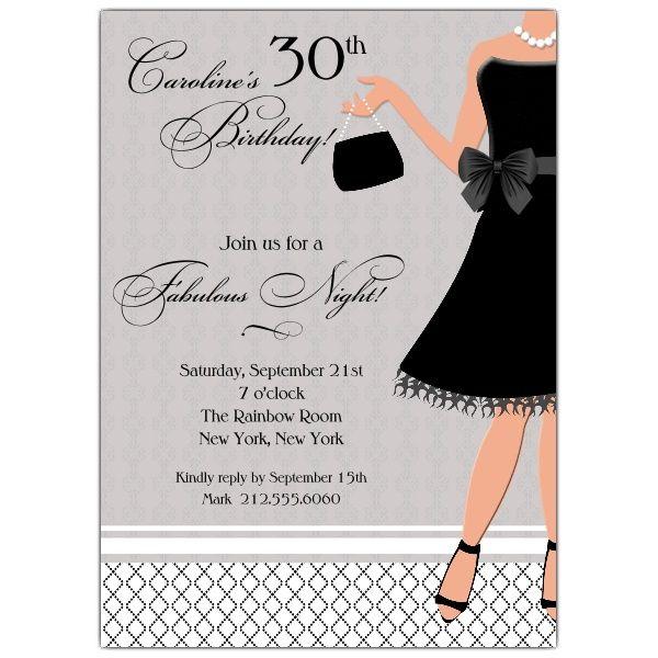 little black dress invite