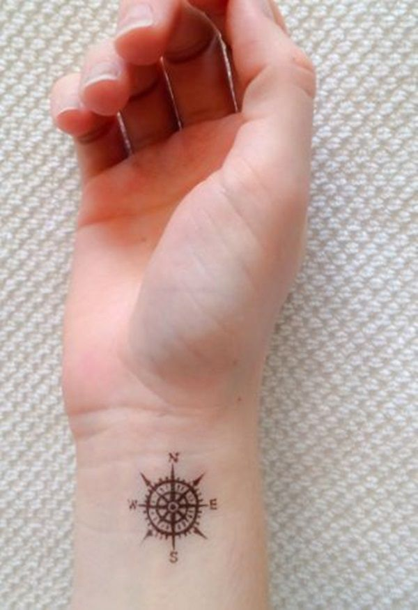 Small girly compass tattoo