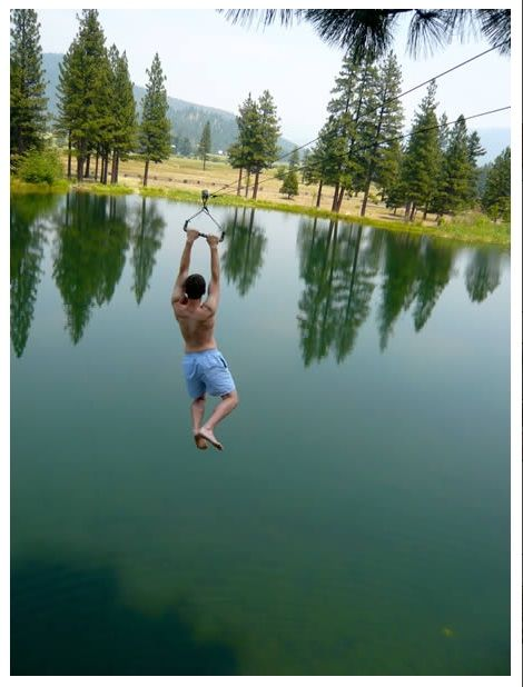 Zip lining. Check! I have even zip lined into a lake before. It is too much fun!