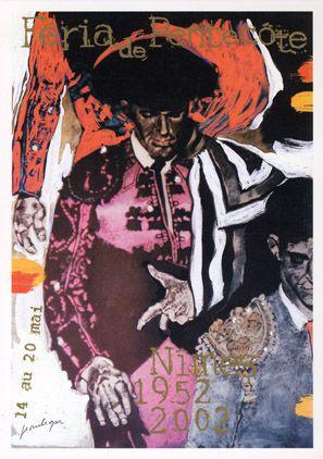 Féria de Nîmes - Affiche 2002 - Artiste Jean Le Gac