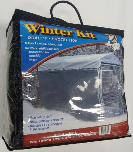 $59.99-$59.99 Lucky Dog Windscreen Shade and Winter Kit for Lucky Dog Kennels, 57 -Inches High by 24-Feet Long - The Lucky Dog Shade Cover/Winterization Kit offer another way to help protect your pet from the elements. Simple installation with Zip ties (included) allows for protection from Sun, Wind, Rain and other conditions. An added component to the safe and comfortable enclosure your animal d ...