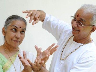 Mr. and Mrs. Dhananjayan, Directors of Bharata Kalanjali Dance School, Chennai, Tamil Nadu India