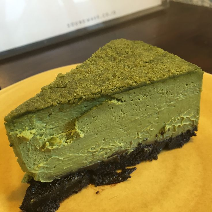 Green tea cheesecake. A must try cake for green tea lover!
