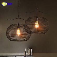 FUMAT Pendentif Lumière Style Loft Industriel Lampe Bar Restaurant Lumière Fer Cru Pendnat Lampe Noir E27 Pendentif Lumière Bureau(China (Mainland))
