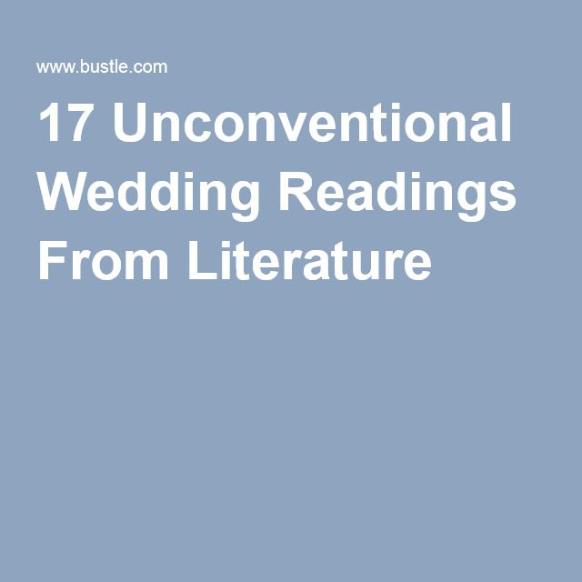 17 Unconventional Wedding Readings From Literature.  Princess bride
