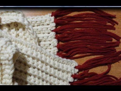 Tutorial sciarpa a coste all'uncinetto - crochet scarf - bufanda del ganchillo - YouTube