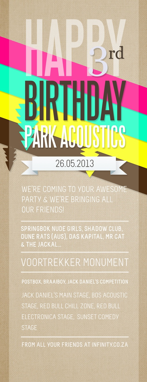 Park Acoustics 3rd Birthday