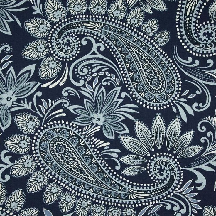 Drapes? Chair Covers? Navodari Denim Blue Paisley Fabric #LGLimitlessDesign #Contest