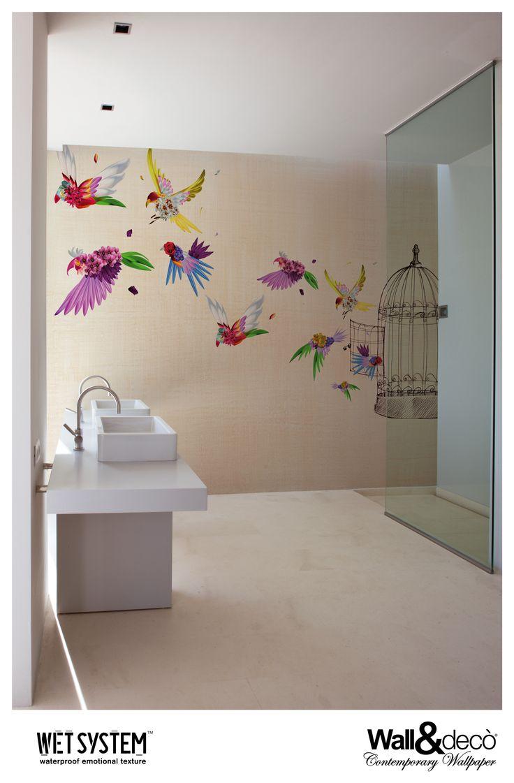 40 best bathroom wallpaper images on pinterest bathroom escape www wallanddeco com wallpaper wallcovering wetsystem