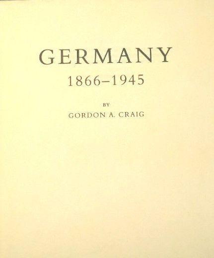 Germany By Gordon A Craig