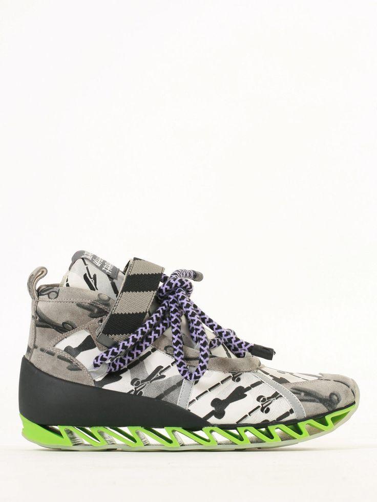 Bernhard Willhelm in collaboration with Camper: Himalayan Suri scissor sneakers - man FW14/15 collection guyafirenze.com