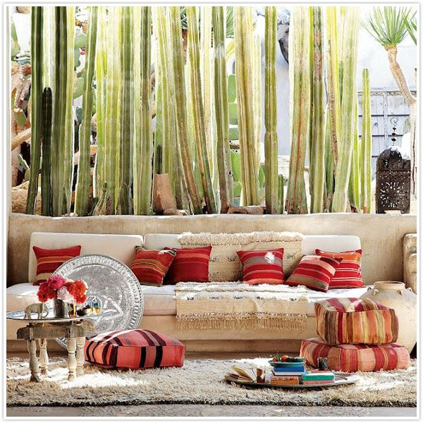 inside/outside: Idea, Houses Style, Interiors Design, Houses Architecture, Floors Cushions, Moroccan Style, Floors Pillows, Outdoor Spaces, West Elm