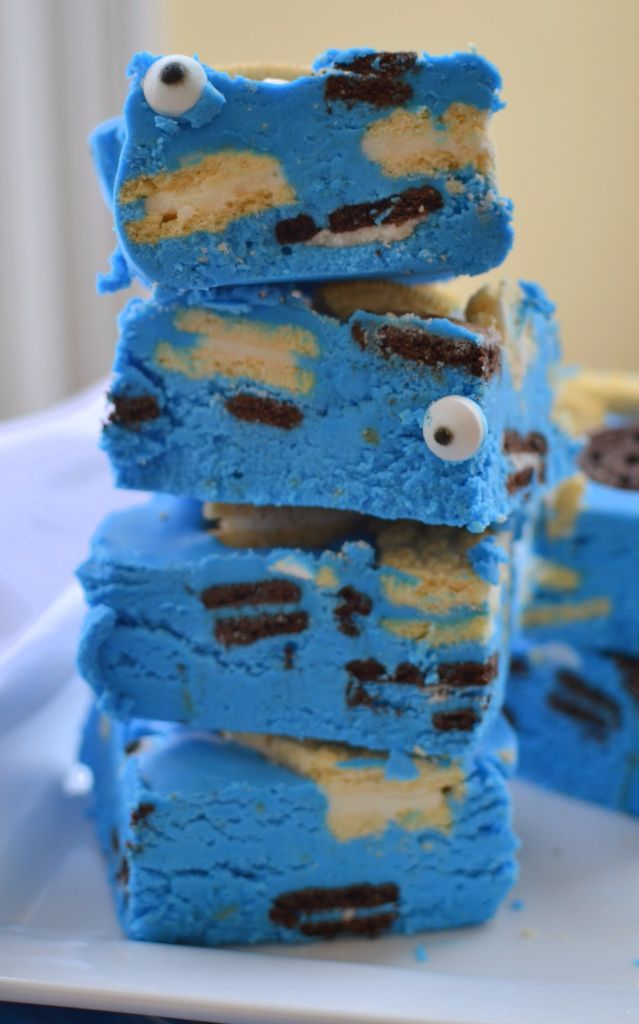 I love cookies!!!  Love this cookie monster fudge. It is as delicious as it is is adorable! It is perfect for your little ones and your little ones friends.  Maybe you know an adult whose favorite Sesame Street Character was Cookie Monster!  Maybe you know an adult that could use a little cheering up!... Read More »