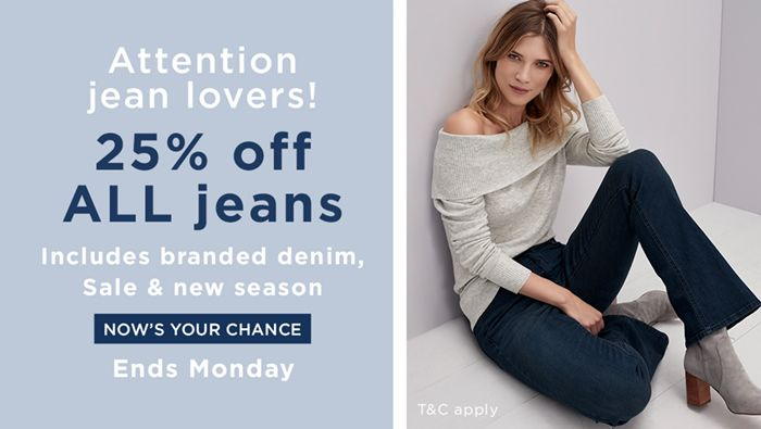 Long Tall Sally USA and Canada: 25% off all jeans