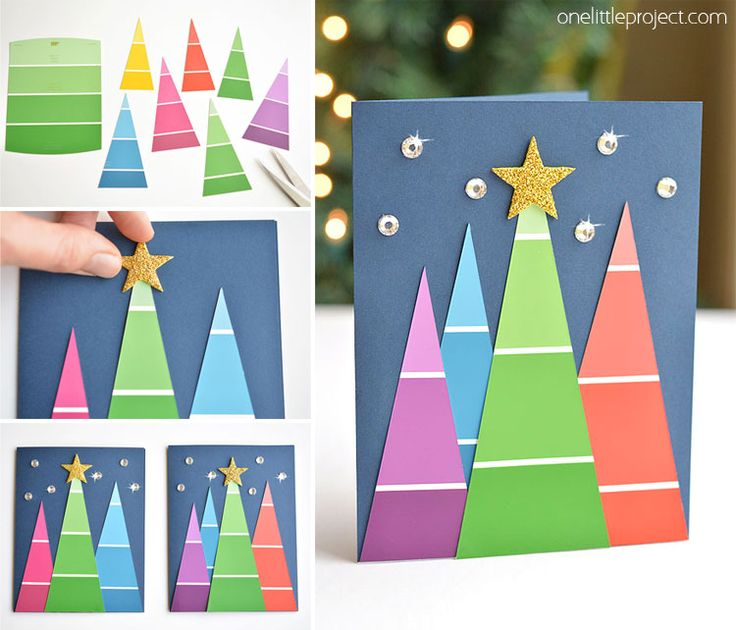 Make Christmas Cards With Kids Part - 43: Paint Chip Christmas Cards