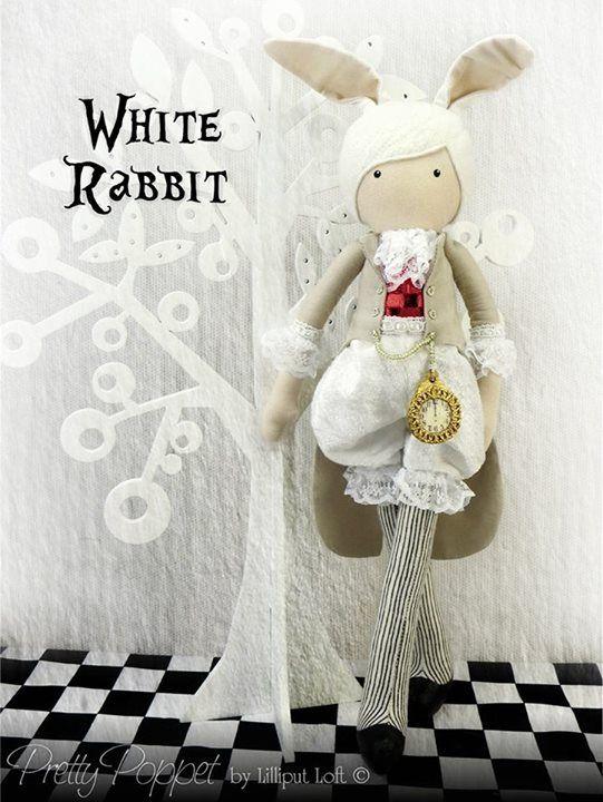 Lilliput Loft - White Rabbit Doll
