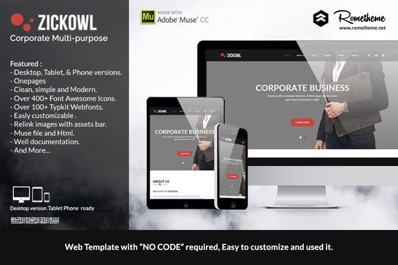 The Best Muse Template Images On Pinterest Adobe Muse Website - Adobe muse website templates