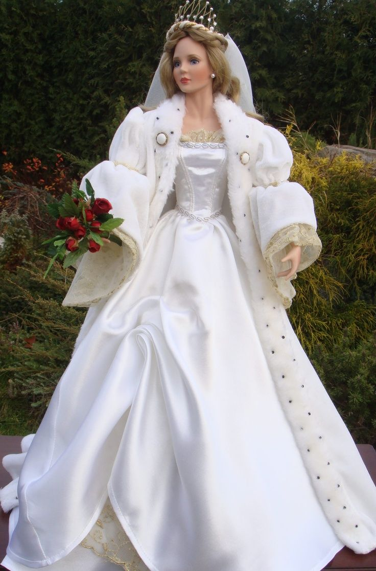 17 best images about wedding dresses for dolls on for How to make a barbie wedding dress