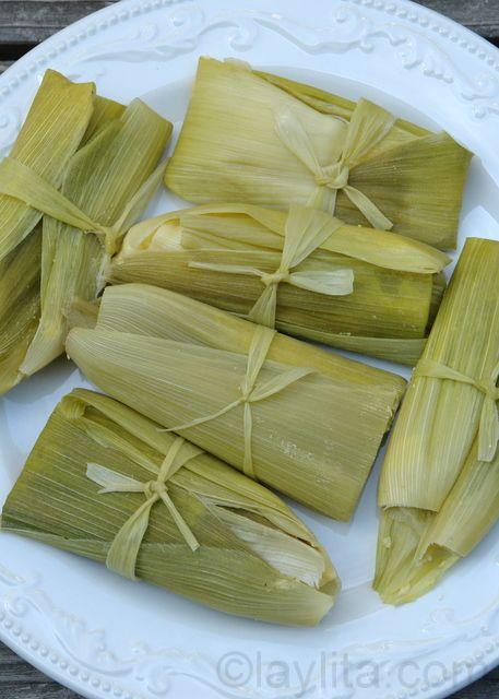 Humitas or fresh corn tamales