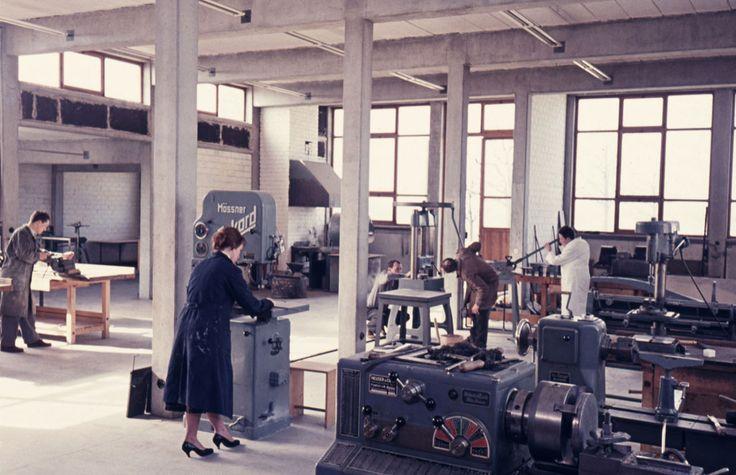 HFG. Metal workshop. Ulm, 1958.