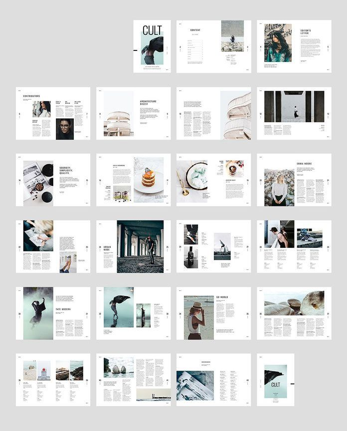 Moscovita Indesign Magazine Template All Spreads With 44 Custom