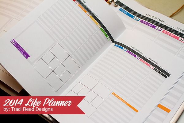 2014  Project Life Planner Make Project Life a breeze with Traci Reed's printable 2014 Life Planner