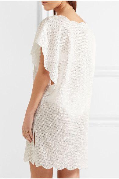 Marysia - Shelter Island Scalloped Crocheted Cotton Tunic - White - x small