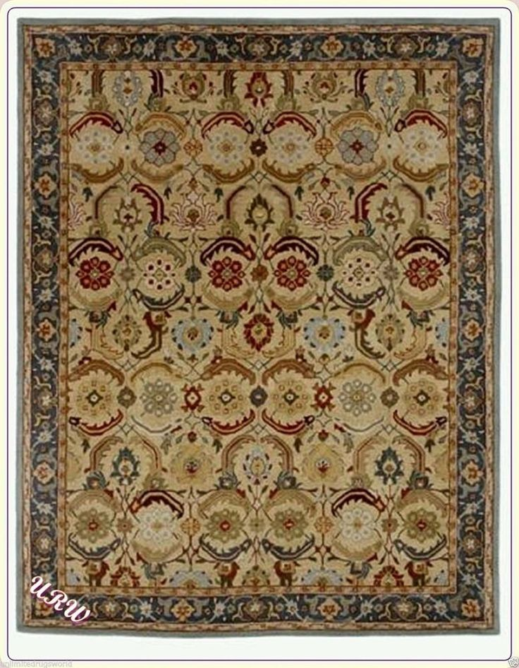 Rugs World Persian Style Eva Design Hand Tufted Woolen area Rug ,Size 8'x10'ft'. #URW #TraditionalPersianOriental