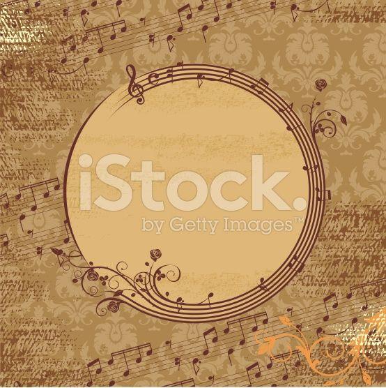 Music grunge frame arte vettoriale stock royalty-free
