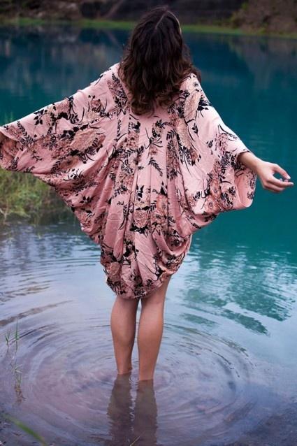 Song Bird Kimono - Saffron Floral - Arnhem Clothing