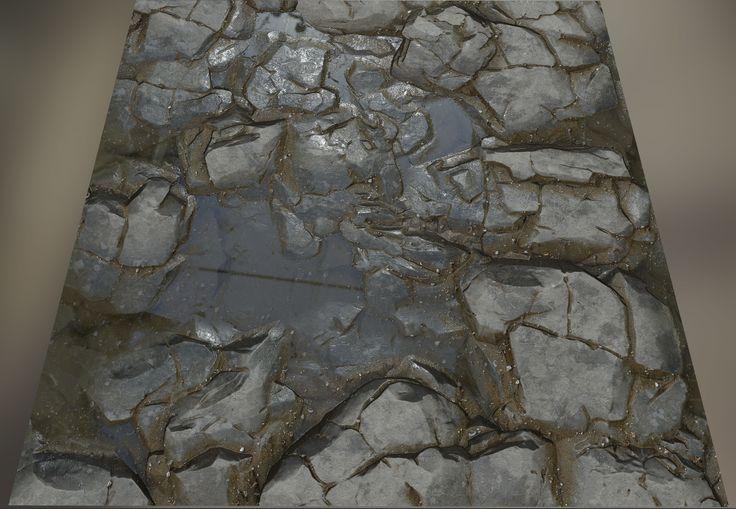 water on the rock, Sangwook Lee on ArtStation at https://www.artstation.com/artwork/NYK4J