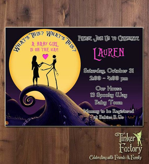 24 best Baby shower ideas images on Pinterest Christmas baby - nightmare before christmas baby shower decorations